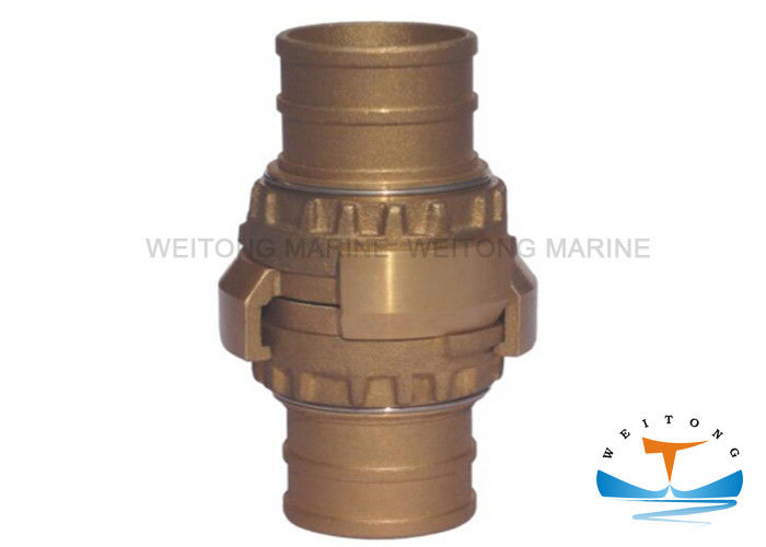 Aluminum Marine Fire Fighting Equipment Fire Hose Coupling 65mm Diameter