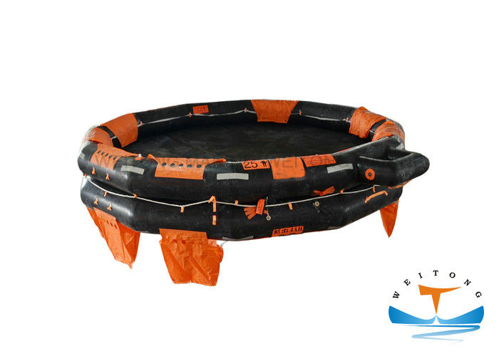 100 Person Emergency Life Raft , Open - Reversible Inflatable Rescue Raft