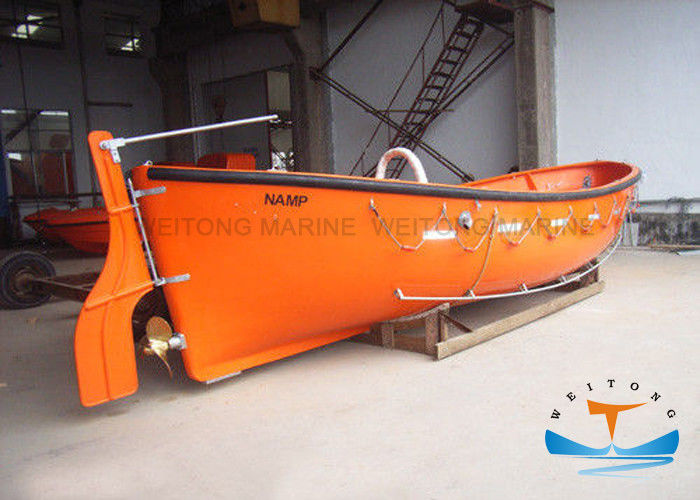 Open Type Lifeboat Rescue Boat FRP Material SOLAS With Polyurethane Foams