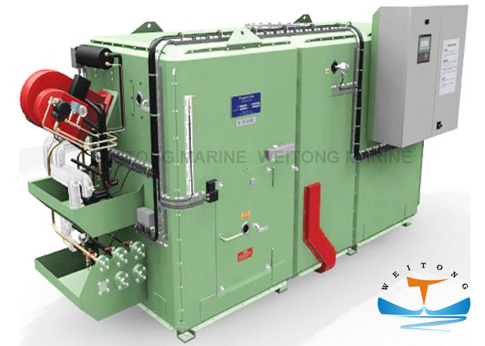 Noiseless Waste Oil Incinerator , Incinerator Onboard Ship With Pneumatic Control