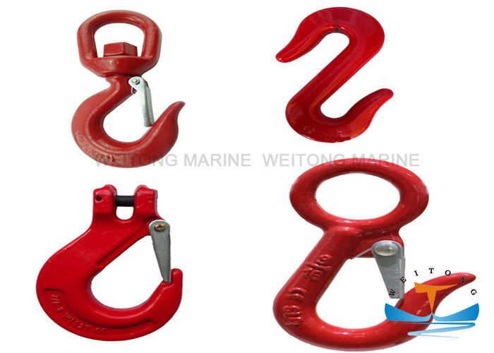 Steel Industrial Lifting Hooks High Strength 6-26mm Size Long Service Life