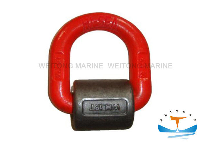 Safety Forged D Ring  , G80 Heavy Duty D Rings With Spring Perfect Supporting Effect