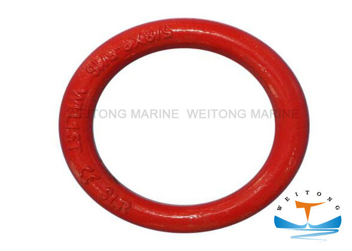 High Strength Rigging Lifting Equipment Forged Weldless Round Ring Red Ral3020 Surface