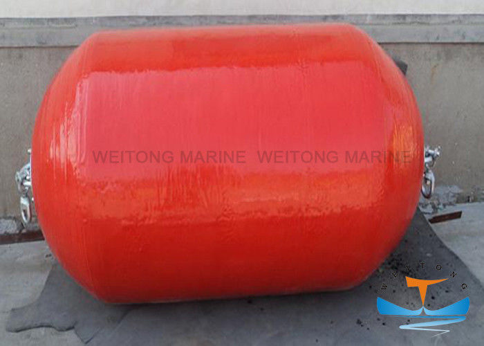 Red Floating Fender / Polyurethane EVA Foam Filled Marine Buoy For Ship Docking