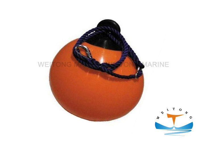 High Strength PVC Marine Round Boat Fenders Orange / White / Blue Color