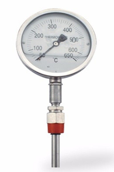 Industrial Bimetal Thermometer Temperature Gauge Galvanized Surface Treatment