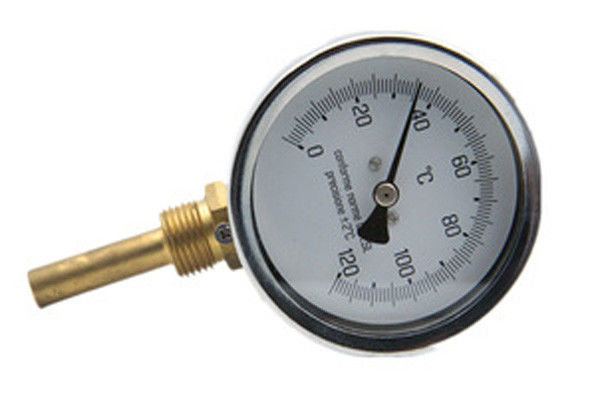 0 - 500C Back Connection Bimetal Thermometer Galvanized Surface Treatment