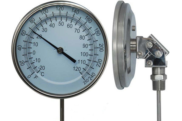 WSS Adjustable Bimetal Thermometer With Screw Or Flange Connection