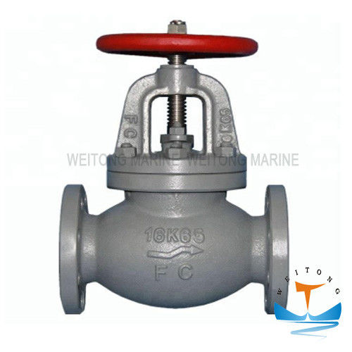 Marine Cast Iron Screw Down Steam Check Globe Valve JIS F7377 16K Customized Color